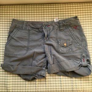 American Eagle green gray shorts
